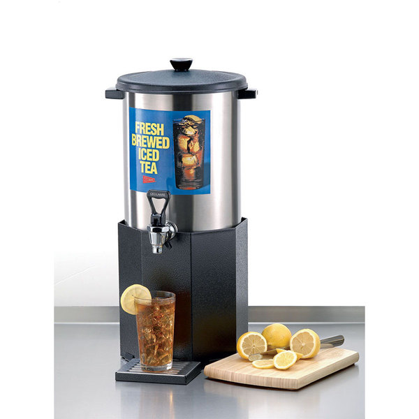 Cecilware B-1/3 Stainless Steel 3 Gallon Iced Tea Dispenser with Base