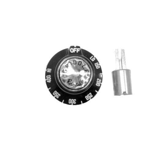 """All Points 22-1036 2"""" Grill / Griddle / Range BJ Thermostat Dial (Off, Lo, 150-400, Hi) Main Image 1"""