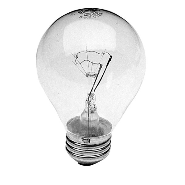 Vulcan 107793-2 Equivalent 50W Clear Oven Light Bulb with Medium Base - 120V