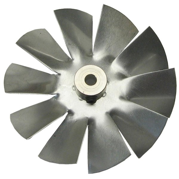 "Food Warming Equipment BLDFANAL Equivalent Clockwise Fan Blade 3"" Diameter x 3/16"" Bore"