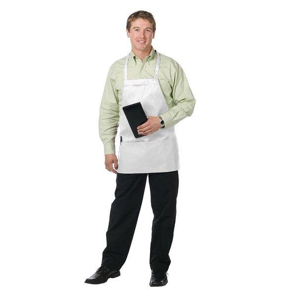 """Chef Revival 612BAFH-WH Customizable White Bib Apron - 28""""L x 27""""W"""