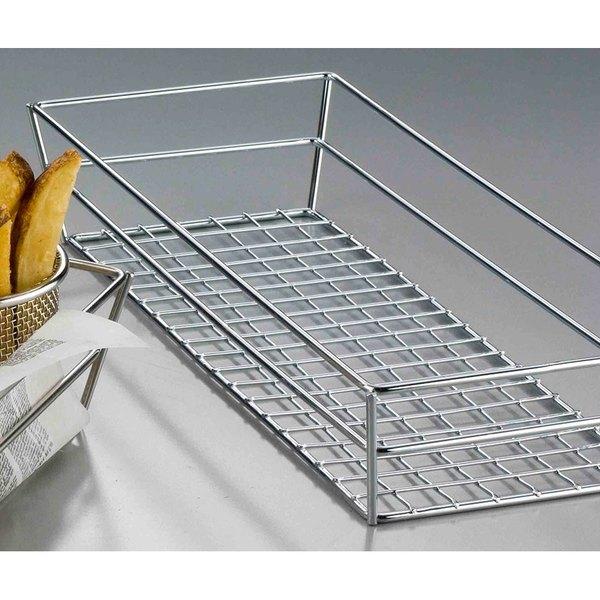 "American Metalcraft GCSS6132 13"" x 6"" x 2 1/2"" Stainless Steel Grid Rectangular Basket Main Image 7"