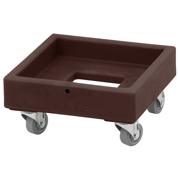 Cambro CD1313131 250 lb. Dark Brown Camdolly Milk Crate Dolly Main Image 1