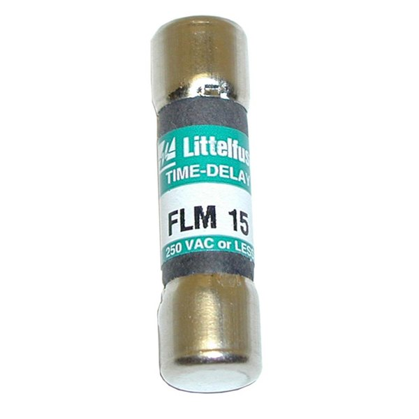 """All Points 38-1203 13/32"""" x 1 1/2"""" 15 Amp Time Delay Fuse - 250V Main Image 1"""