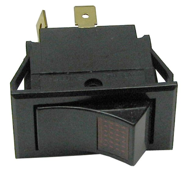 All Points 42-1519 On/Off Lighted Rocker Switch - 10A/250V, 15A/125V Main Image 1