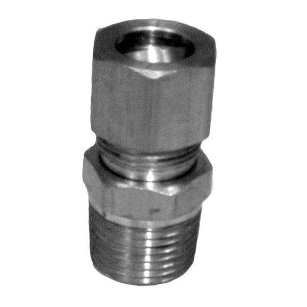 """All Points 26-2183 3/8"""" x 7/16"""" Brass Male Connector"""