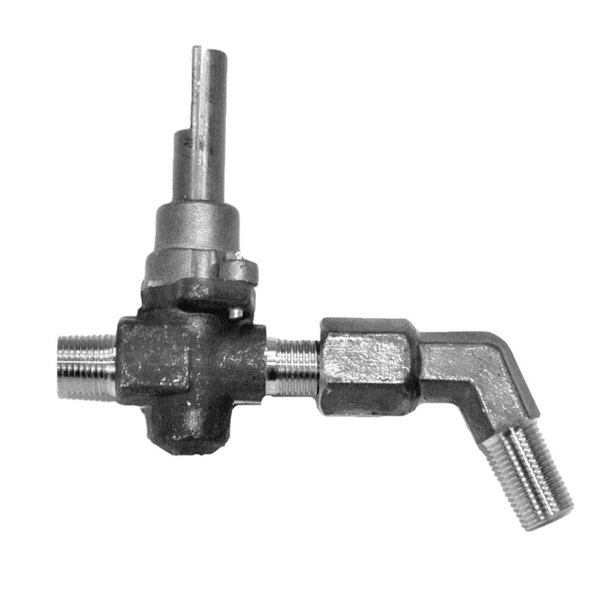 """Vulcan 719222 Equivalent Top Burner Valve; 1/8"""" Gas In; 3/8""""-27 Gas Out Main Image 1"""