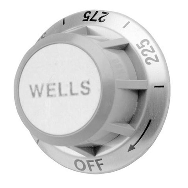 """All Points 22-1085 2 3/8"""" Fryer Gray and Silver Thermostat Knob (Off, 225-375)"""