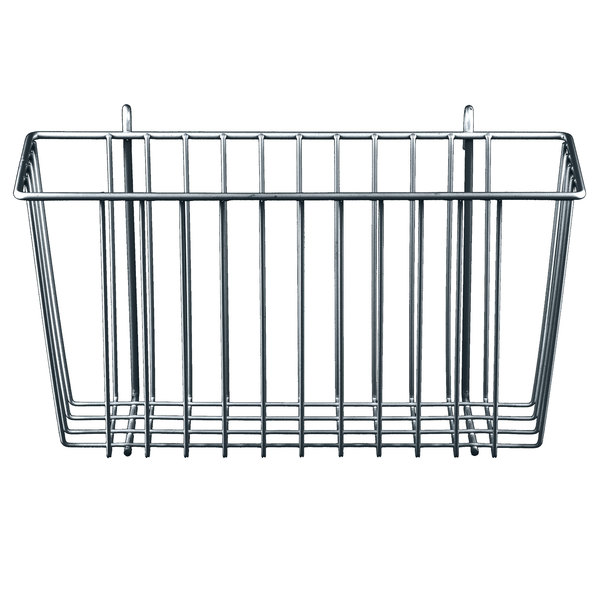 "Metro H209C Chrome Storage Basket for Wire Shelving 13 3/8"" x 5"" x 7"""