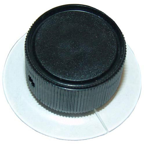 """Nieco 4445 Equivalent 1 1/8"""" Black and Clear Broiler Indicator Knob Main Image 1"""