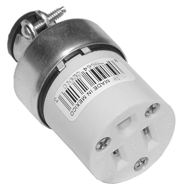 All Points 38-1315 3-Wire Connector; 125V; NEMA 5-15R Main Image 1