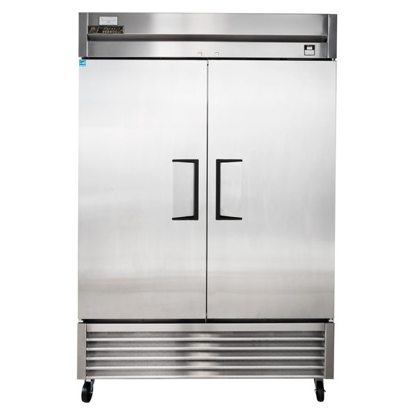 """True TS-49F 54"""" Stainless Steel Two Section Solid Door Reach-In Freezer"""
