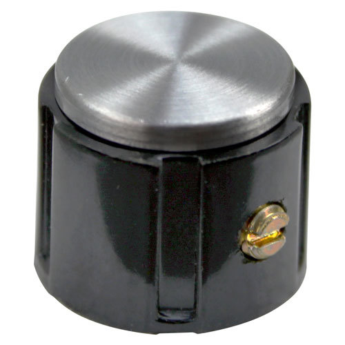 "All Points 22-1561 3/4"" Black and Silver Oven Speed Control Knob"