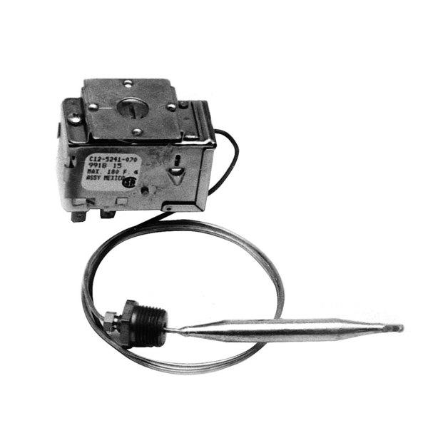 "Ranco C12-5241 Equivalent Dishwasher Rinse Thermostat; Type C12; Temperature 165 - 195 Degrees Fahrenheit; 24"" Capillary"