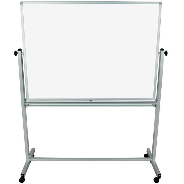 "Luxor MB4836WW 48"" x 36"" Double-Sided Whiteboard with Aluminum Frame and Stand Main Image 1"