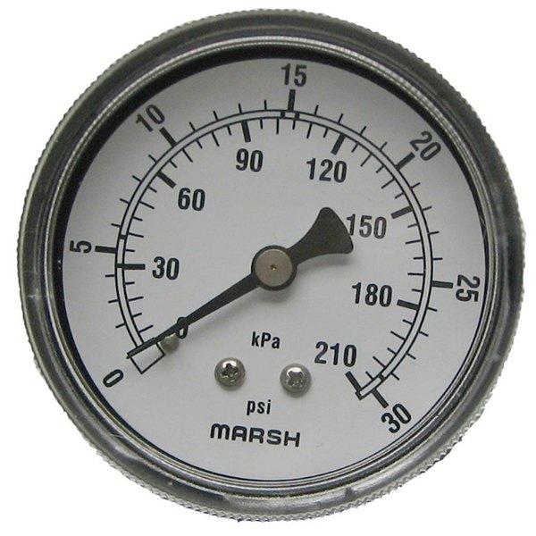 """All Points 62-1000 Pressure Gauge; 0 - 30 PSI; 1/4"""" MPT Back Mount"""