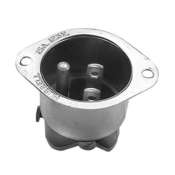 Duke 2139 Equivalent Flanged 3 Prong Male Plug - 15A/125V