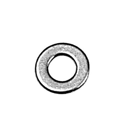 """All Points 26-1156 Stainless Steel Flat Washer 18-8; Size 1/4"""" - 100/Box"""