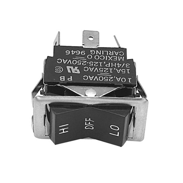Blodgett 6503 Equivalent High/Off/Low Rocker Switch - 10A/250V, 15A/125V Main Image 1
