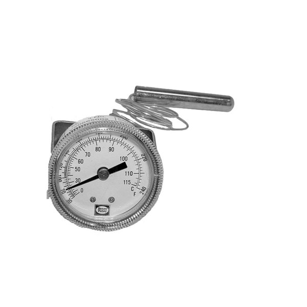Henny Penny 14250 Equivalent Thermometer; 30 - 240 Degrees Fahrenheit; Rear Mount U-Clamp Main Image 1