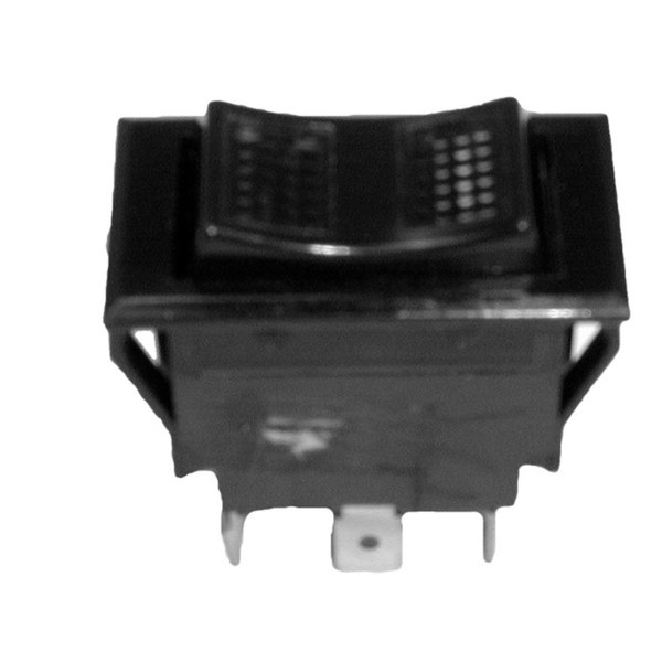 Imperial 1126 Equivalent On/Off/On Lighted Rocker Switch - 15A/125V, 10A/250V