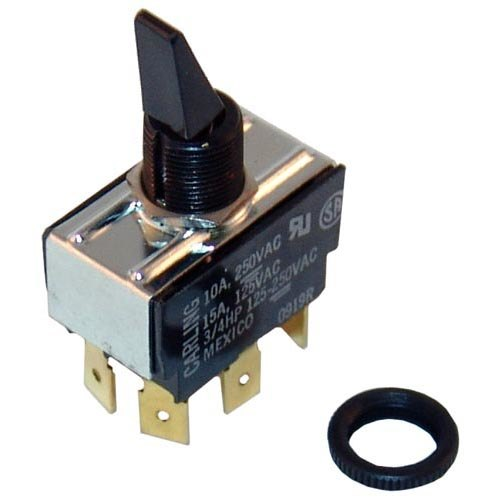 All Points 42-1602 On/Off/On Toggle Switch - 10A/250V, 15A/125V Main Image 1