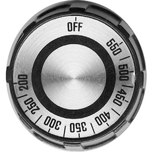"All Points 22-1286 2"" Oven / Range Thermostat Dial (Off, 200-550)"