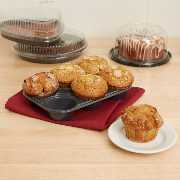 Genpak 55306 Bake N' Show Dual Ovenable 6 Cup Muffin Pan - 250/Case