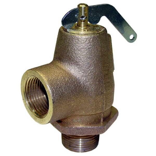 "Garland / US Range 076005-1 Equivalent 15 PSI Steam Safety Relief Valve - 3/4"" NPT, 446 lb./Hour Main Image 1"