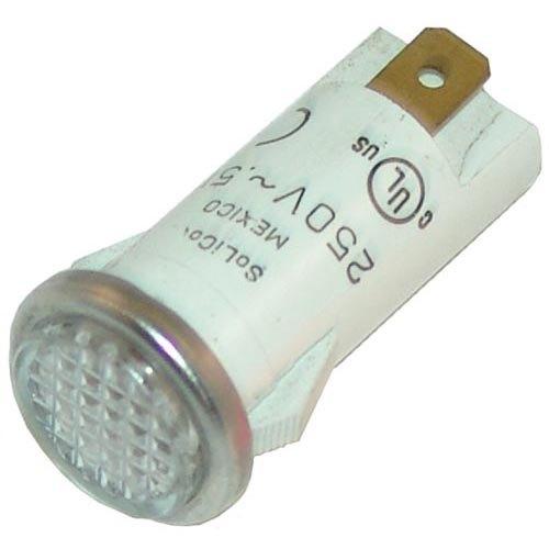 All Points 38-1476 White Flush Lens Signal Light - 125V