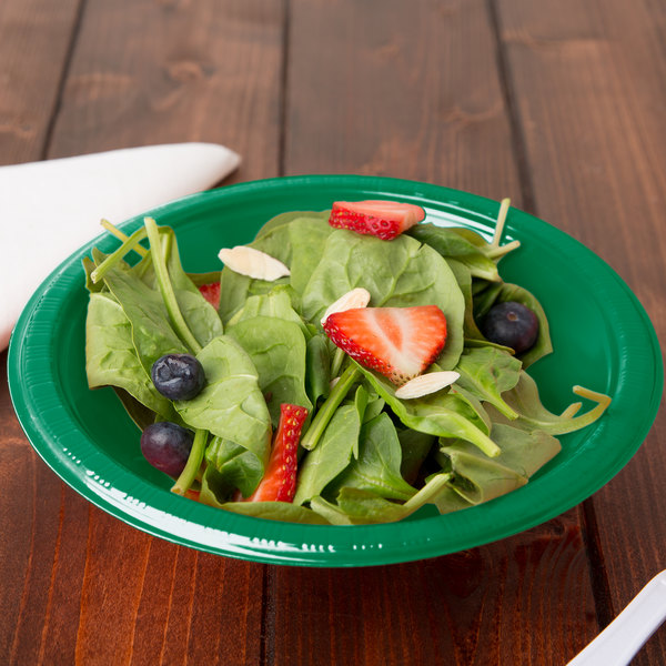 Creative Converting 28112051 12 oz. Emerald Green Plastic Bowl - 240/Case