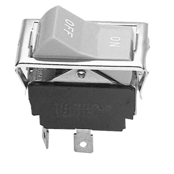 Blodgett 6500 Equivalent Rocker Blower Switch - DPST, 4 Terminals