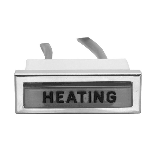 """All Points 38-1149 """"Heating"""" Signal Light; 3/8"""" x 1-5/16""""; Amber; 250V Main Image 1"""