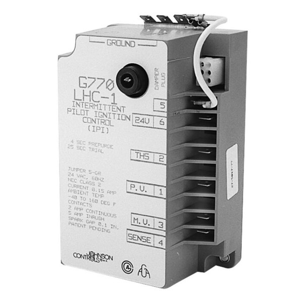Johnson Controls G770KHA2 Equivalent Intermittent Pilot Ignition Control - 24V, 50/60Hz