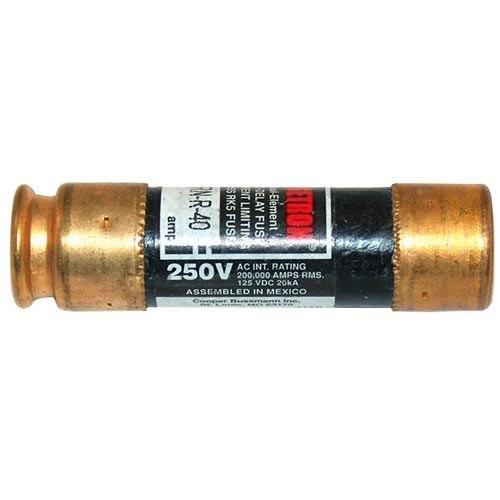 "Bussmann FRN-R-40 Equivalent 13/16"" x 3"" 40 Amp RK5 Dual Element Time Delay Fuse - 250V"