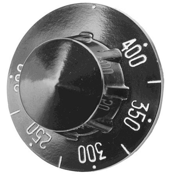 "Pitco P6071271 Equivalent 2 1/4"" Range / Fryer / Braising Pan Thermostat Dial (Off, 200-400) Main Image 1"