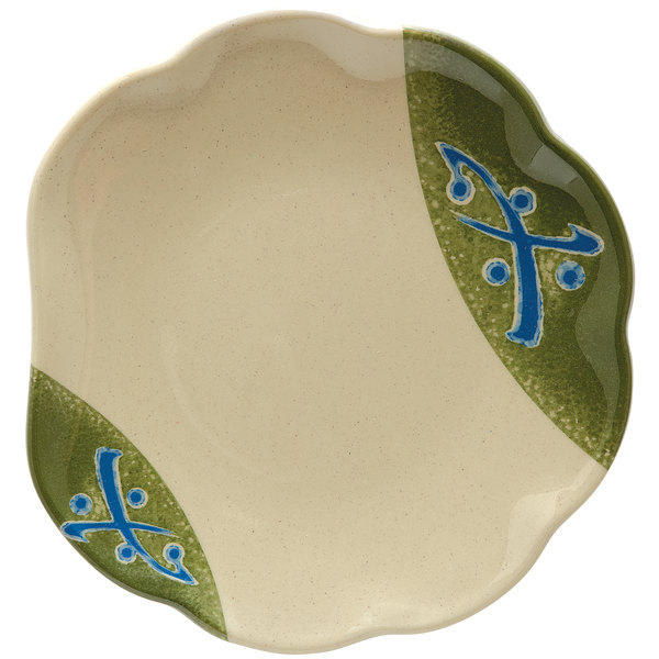 "GET 139-TD Japanese Traditional 8"" Scallop Plate - 12/Case"