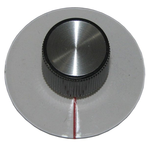 """All Points 22-1485 1 1/2"""" Black and Clear Plastic Convection Oven Timer Knob"""