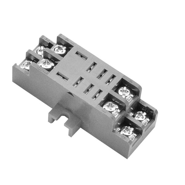 "Cleveland 03525 Equivalent 8 Slot Relay Socket for 3/16"" Tab Terminals"