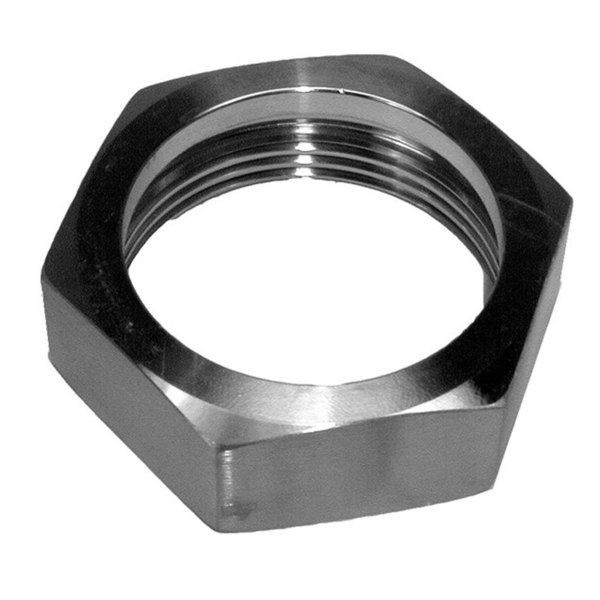 """Cleveland FI05180-3 Equivalent Stainless Steel Hex Nut for 1 1/2"""" Draw-Off Valve Body"""