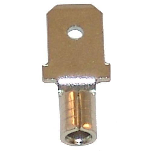 """All Points 85-1014 Nickel Plated Male Quick Disconnect; 1/4"""" Tab; Wire Gauge: 14 - 100/Box"""