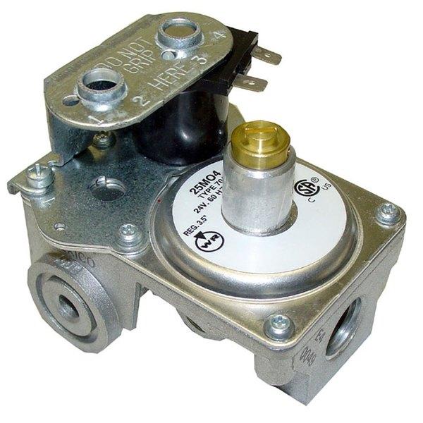 "Hobart 354344-4 Equivalent 3/8"" FPT x 3/8"" FPT Natural Gas Solenoid Valve - 24V"