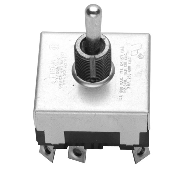 All Points 42-1257 On/Off/Momentary On Toggle Switch - 17A/125-250V