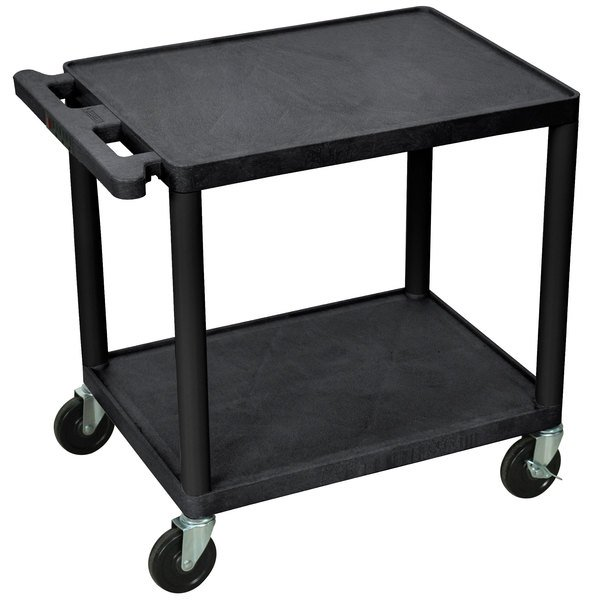 """Luxor LP26E-B 2 Shelf A/V Table 18"""" x 24"""" x 26"""" Main Image 1"""