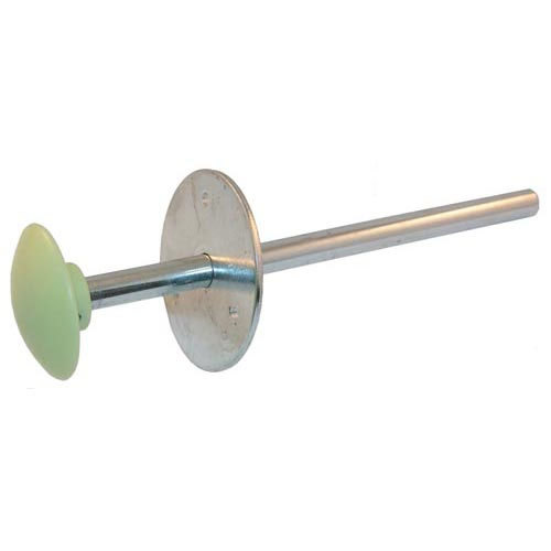 """Kason 10481A00600 9"""" Steel Walk-In Cooler Safety Release Handle w/Plastic Glow Knob Main Image 1"""