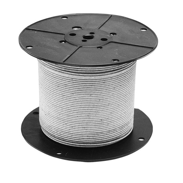 All Points 38-1346 High Temperature Wire; #12 Gauge; Stranded SRGN; White; 250' Roll