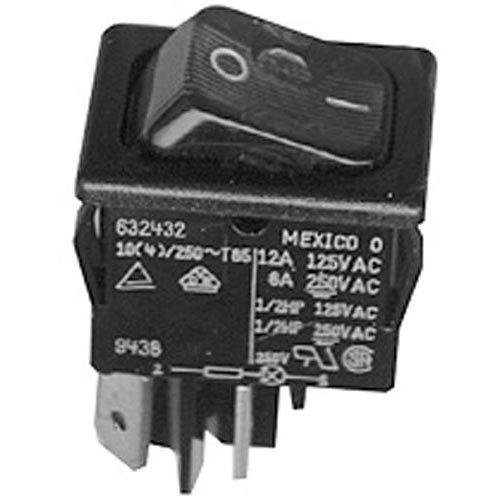 All Points 42-1695 On/Off Lighted Rocker Switch - 10A/250V, 12A/125V