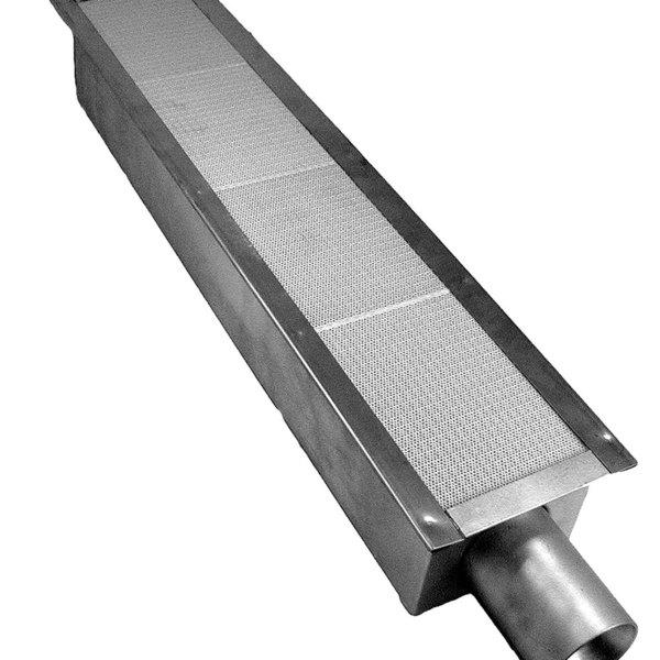 "Vulcan 414754-3 Equivalent 27"" x 5"" Steel Infrared Broiler Burner - New Narrow Style"