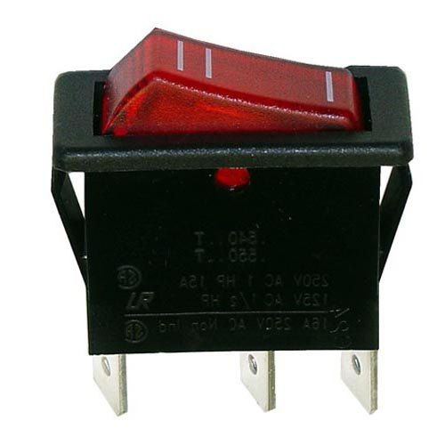 All Points 42-1470 On/Off Lighted Rocker Switch - 12A/250V Main Image 1