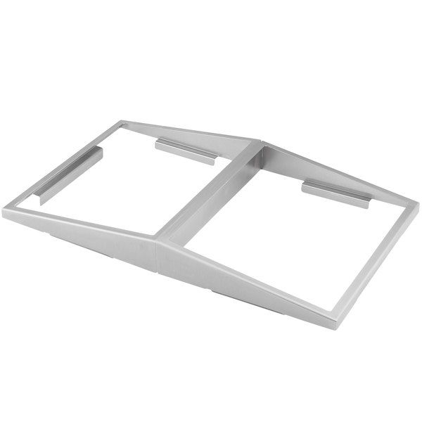 Vollrath 19184 Stainless Steel Dual-Sided Angled Adapter Plate for Half Size Pans